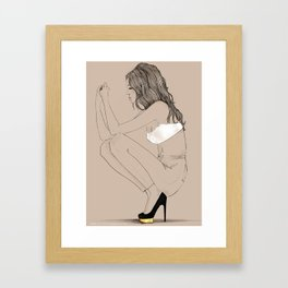 In Dolly Shoes Framed Art Print