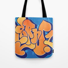Lern 1 Bubblegum Graffiti NYC Tote Bag