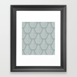 SPIRIT silver white Framed Art Print