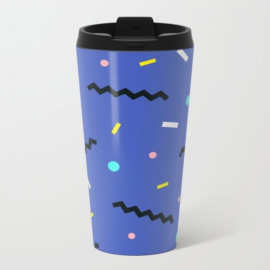 Memphis pattern 57 Metal Travel Mug