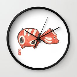 Akabeko [Special Lucky Toy Box] Wall Clock