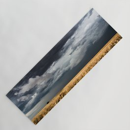 Cotton Candy - Storm Clouds Over Wheat Field in Kansas Yoga Mat