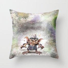 Garbage goblin Throw Pillow
