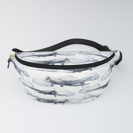 Watercolor airplanes Fanny Pack