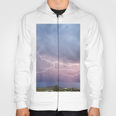 March Lightning Over Cave Creek Arizona Hoody