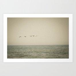 Beyond The Shore Art Print