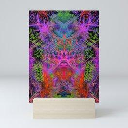 Violet Scratches Relieve Tension Mini Art Print