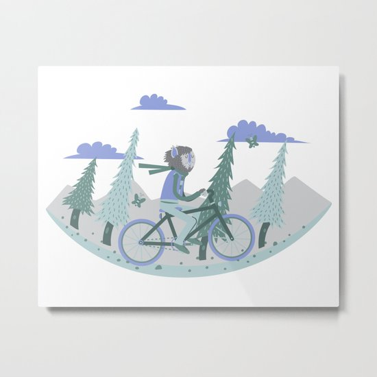 Werewolf Goes For a Ride Metal Print