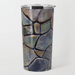 Mosaic Stone Wall Travel Mug