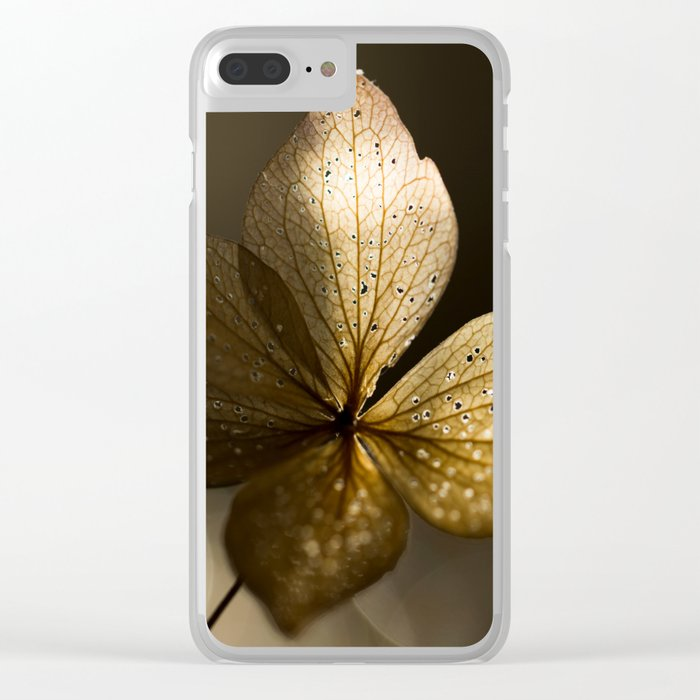 Autumn Scene - Dry Petals with Golden Sunset Light #decor #society6 #buyart Clear iPhone Case
