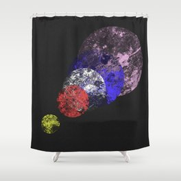 Aligned Universe - Space Abstract Shower Curtain