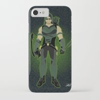 green arrow iPhone & iPod Cases featuring Green Arrow by The Vector Studio