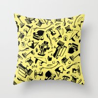 memphis Throw Pillows featuring Memphis by Mario Graciotti