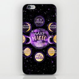 Make Magic With The Moon Cycles iPhone Skin