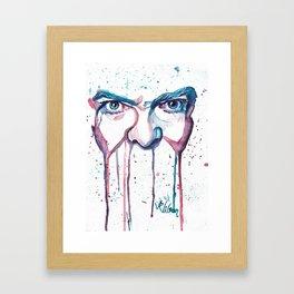 Bowie Watercolor  Framed Art Print