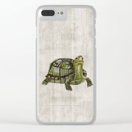 Little Turtle, Forest Animals, Woodland Decor, Woodland Art, Clear iPhone Case