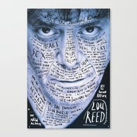 lou reed Canvas Prints featuring Lou Reed Poster by Sagmeister And Walsh