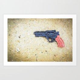 Plastic Gun in Rain Art Print