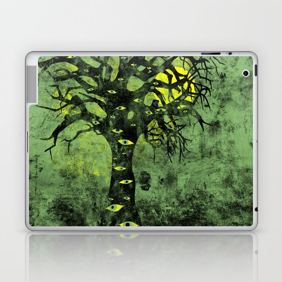 the Vision Tree (green) Laptop & iPad Skin