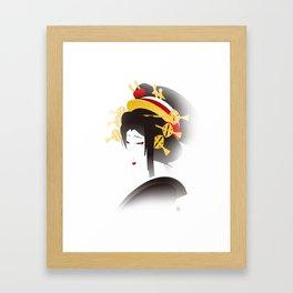 Jakuemon - a Kabuki Portrait Framed Art Print