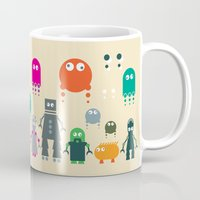 robots Mugs featuring Robots by ALL TYPE _ Marcio Pontes