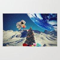 christmas tree Area & Throw Rugs featuring Christmas Tree by Cs025