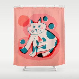 Abstraction_Cat_Sunbath Shower Curtain