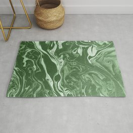 marble green white paper texture Rug