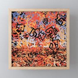 Shattering Sky Framed Mini Art Print