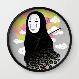 No Face and Soot Sprites Wall Clock