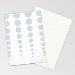 Up and down polka dot pattern in white and a pale icy gray Stationery Cards