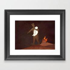 Afraid of Fire Framed Art Print