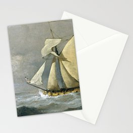 Willem van de Velde the Younger - The Cleveland Yacht at sea in a fresh breeze Stationery Cards
