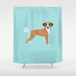 Boxer funny fart dog pure breed gifts dog lovers Shower Curtain