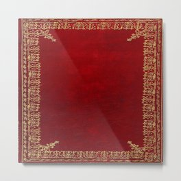 Red and Gilded Gold Book Metal Print
