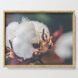 Cotton Flower Serving Tray