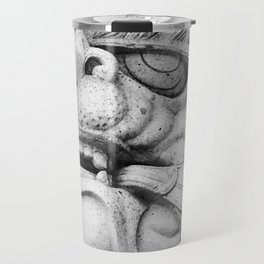 Foo Dog - black and white Travel Mug