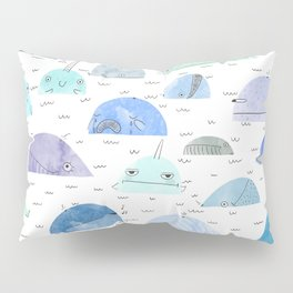 Whale party Pillow Sham