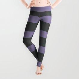 Light Purple Stripes on Gray Background Leggings