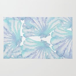 Shell Ya Later - Turquoise Seashell Pattern Rug