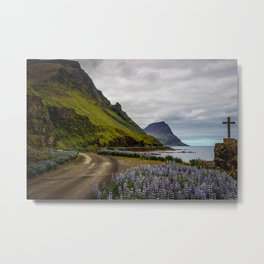 Road in Iceland Metal Print
