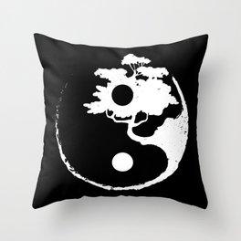Ying Yang Bonsai Tree Japanese Zen Gift Throw Pillow