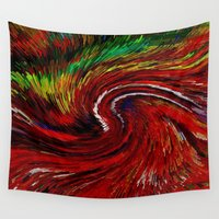 gravity Wall Tapestries featuring Gravity by Violet Vibrance