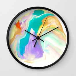 Deep Sea Colorful Surprises Marbling Wall Clock
