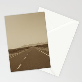 the road to Marfa Stationery Cards