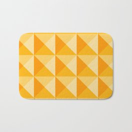 Geometric Prism in Sunshine Yellow Bath Mat