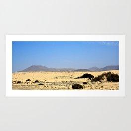 Corralejo's Dunes Art Print