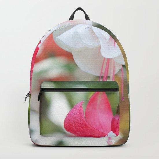 Fuchsia Blossom #1 #pink #white #art #society6 Backpack