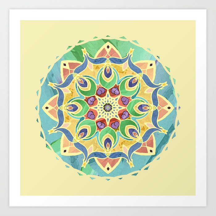 Sand and Silk Mandala 2 Art Print