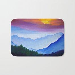 Smokey Mountain Sunset Bath Mat